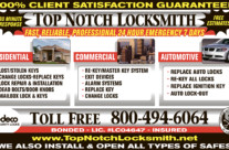 Top Notch Locksmith Ad